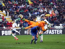 Football match between Italy and Republic of Ireland Under-21 Stock Photography