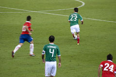 Football match. Mexico-Chile Stock Image