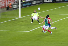 Football match. Mexico-Chile Royalty Free Stock Photos
