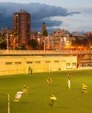 Football match motion blur Stock Photo