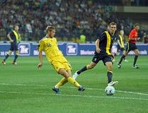 football match national sweden teams ukraine 库存图片