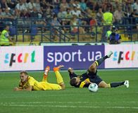 football match national sweden teams ukraine 免版税库存图片