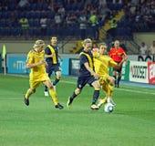 football match national sweden teams ukraine 免版税图库摄影
