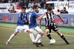 Football match between Paok and Atromitos (1-2) Stock Image