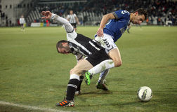 Football match between Paok and Atromitos (1-2) Stock Photography