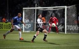 Football match between Paok and Atromitos (1-2) Stock Photos
