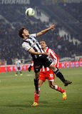 Football match between Paok and Olympiakos Stock Photography