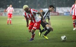 Football match between Paok and Olympiakos Stock Photo