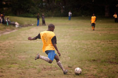 Football match in remote village, SOuthAfrica Stock Photography