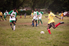 Football match in remote village, SOuthAfrica Royalty Free Stock Image