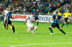 A football match between Shakhtar Donetsk Stock Photo