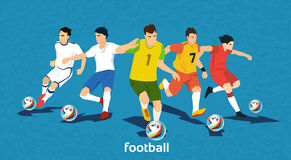 Football Match Team Players Sport Championship Royalty Free Stock Photo