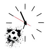 Football match time. The clock shows the start time of football match Stock Photography