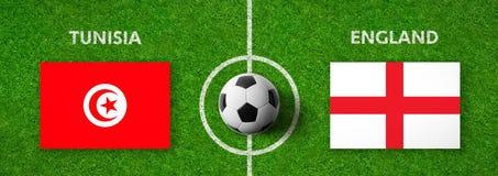 Football match Tunisia vs. England Royalty Free Stock Photography