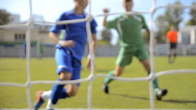 Football match stock video