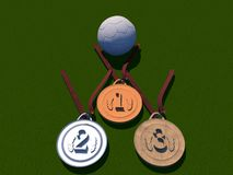 Football and medals Stock Image