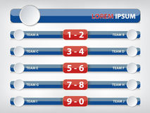 Football menu button for score information. Football or Soccer menu button for score information Stock Photography