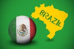 Football in mexico colours Royalty Free Stock Photos