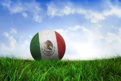 Football in mexico colours Royalty Free Stock Images