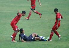 Players From Persib Bandung And Persik Kediri Compete