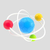 Football molecule made of balls Stock Image