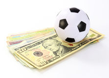 Football and money soccer betty Stock Photos