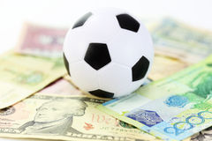 Football and money soccer betty Stock Images