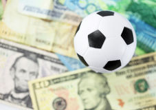 Football and money soccer betty Stock Photo