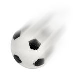 Football in motion Stock Image