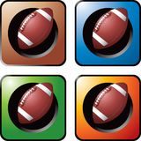 Football on multicolored web buttons Royalty Free Stock Photography