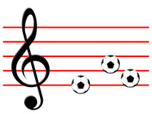 Football music Royalty Free Stock Image