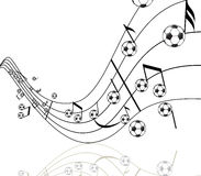 Football and music Royalty Free Stock Images