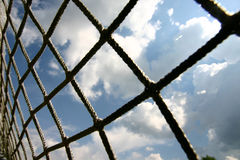 Football net stock image