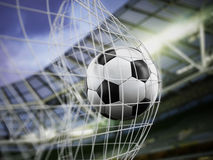 Football on the net. Football at the back of the net Stock Image
