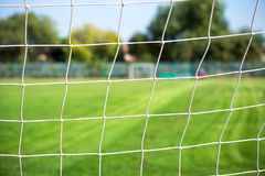 Football net and field Stock Image