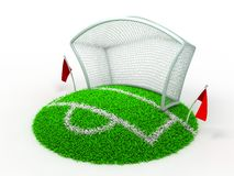 Football Net Gate. 3D Concept Football Net Gate on White Background vector illustration