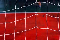 Football net  Siemens background. Stock Image
