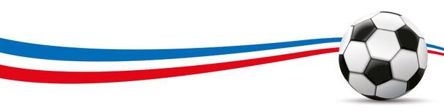 Football Netherlands Flag Long Header Stock Image