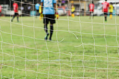 Football nets lacking Royalty Free Stock Photography