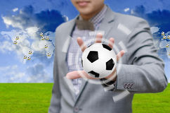 Football network concept Royalty Free Stock Image