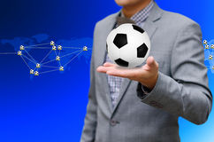 Football network, Sport network concept Royalty Free Stock Photo