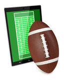 Football and new communication technology Royalty Free Stock Image