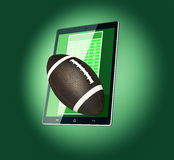 Football and new communication technology Stock Photo