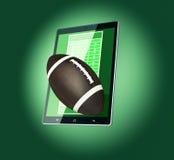 Football and new communication technology Stock Photo