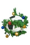 Football of New Year Stock Images
