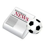 Football news Royalty Free Stock Photo
