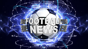 FOOTBALL NEWS BALL Computer Graphics Background Royalty Free Stock Image