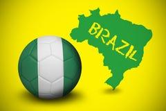 Football in nigeria colours Stock Photos