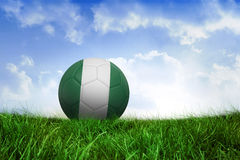 Football in nigeria colours Stock Photo