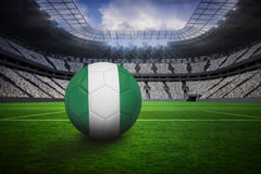 Football in nigeria colours Stock Photography